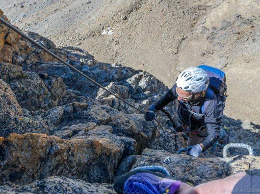 Klettersteig Piz Trovat : Piz trovat klettersteig diavolezza engadin schweiz